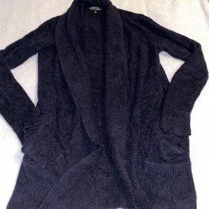 Barefoot Dreams Cozy Lite Black Cardigan medium